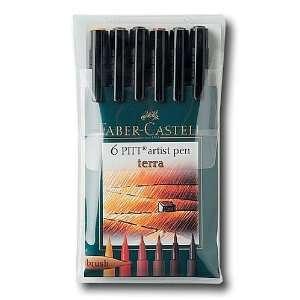 Faber Castell Pitt Artist Brush Pen Set terra set of 6