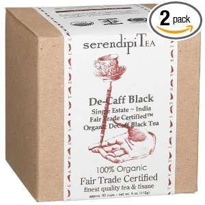 SerendipiTea De Caff Black, Single Estate, India, Organic Black Tea, 4