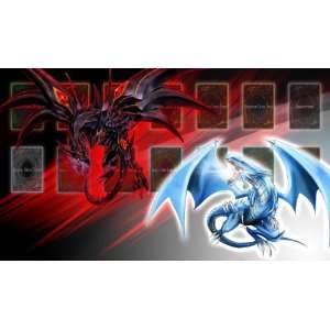 Yugioh Blue Eyes White Dragon VS. Red Eyes Metal Dragon