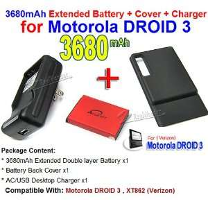 New 3680mAh High Quality Extended Life Battery+Back Cover
