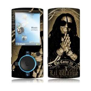 Music Skins MS LILW10163 SanDisk Sansa View  16 30GB  Lil Wayne  Gold