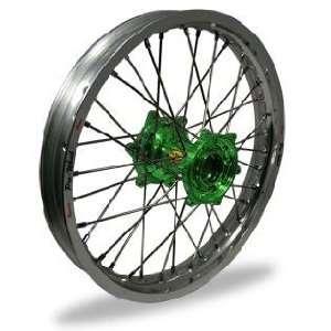 Wheel MX Rear Wheel Set   18x2.15   Silver Rim/Green Hub 24 12851 HUB
