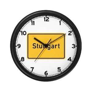 Stuttgart Roadmarker, Germany German Wall Clock by