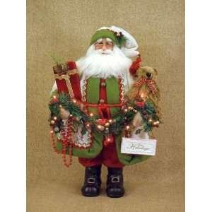 Karen Didion Originals Santa Claus Happy Holidays lighted