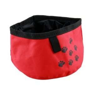 Pet Dog Cat Folding Travel Water Bowl Food Dish Red Pet