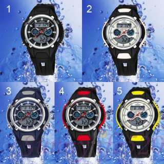 Dual Time Zone Alarm Water Proof Men Women Sport Watch