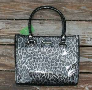 Kate Spade wellesley animal quinn Tote Patent Cowhide Leather handbag