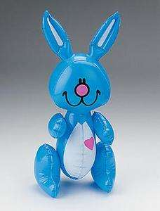 15 Inflatable EASTER BUNNY Basket Fillers Toys Props Kids Pink Blue