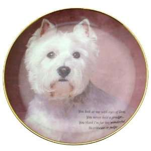 Danbury Mint Eyes of Love Poetry of the Westie Plate