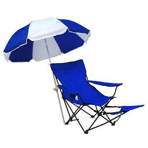 Portable Folding Footrest Chair with Umbrella