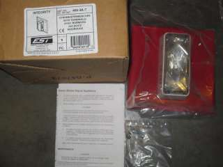 EST EDWARDS 405 3A T RED 24V FIRE ALARM SIGNAL STROBE