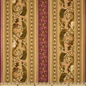 44 Wide Flora and Fauna Garland Repeating Border