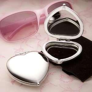 Shower / Wedding Favors  Heart shaped Design Compact Mirror Favors