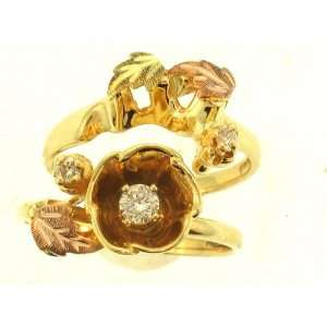 Beautiful! Yellow gold Black Hills Gold Diamond Wedding Set: Jewelry
