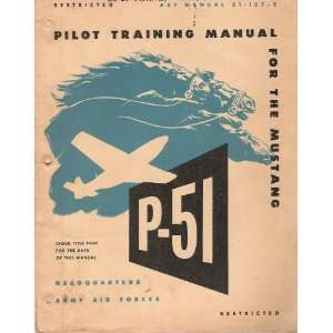 51 Aircraft Pilot Training Manual North American Aviation Books