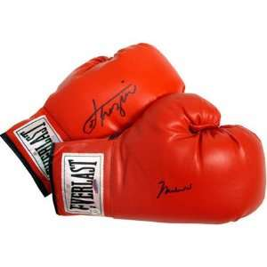 Muhammad Ali & Joe Frazier Autographed Boxing Gloves