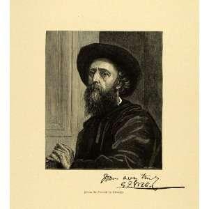 1887 Wood Engraving George Frederick Watts Self Portrait