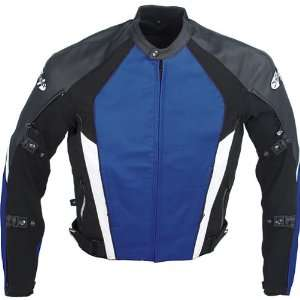 JOE ROCKET PRO STREET LEATHER JACKET BLUE/BLACK 46 USA