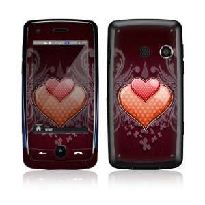 Double Hearts Decorative Skin Cover Decal Sticker for LG