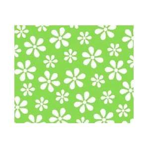 SheetWorld Crib Sheet Set   Primary Green Floral Woven