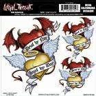 DEVIL ANGEL HEART WING 6X6 VINYL DECAL TRAILER STICKER