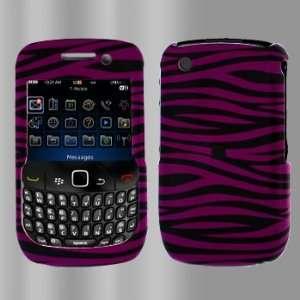 Blackberry 8520 Curve 9300 Hot Pink Black Zebra Case Cover