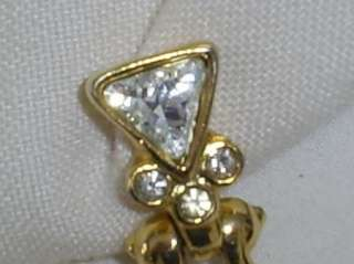 Piscitelli Goldtone Crystal Rhinestone Dangle Earrings