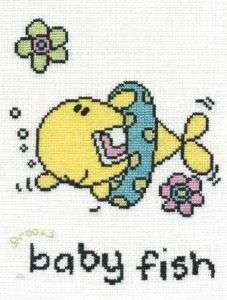 DMC Bang on the Door Cross Stitch Kit Groovy Baby Fish