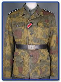WW2 German Tan & Water Camo M43 Field Tunic S XXL(Pre aged)