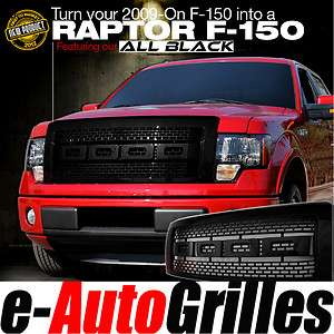 12 Ford F 150 ABS BLACK Raptor Style Full Complete Billet Grille Shell