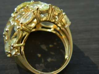 Cocktail Dome Ring in 18KT yel. gold G8T 4 Mothers Day