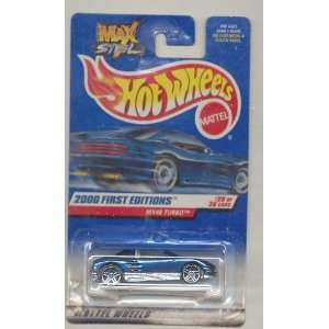 Hot Wheels 2000 080 First Editions 20/36 BLUE MX48 Turbo Max Steel 1