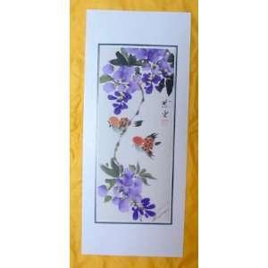 Original Chinese Art Watercolor Painting Flower Bird