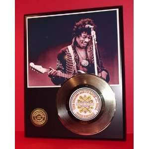 JIMI HENDRIX GOLD RECORD LIMITED EDITION DISPLAY