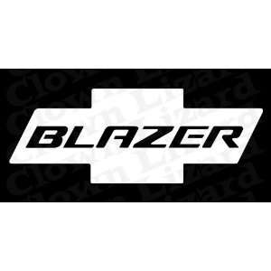 Chevy Blazer Bowtie Design Rear Window Vinyl Graphic Decal 27 x 10