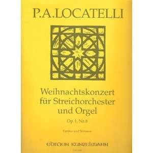 Op. 1, Nr. 8 partitur und Stimmen: Pietro Antonio Locatelli: Books