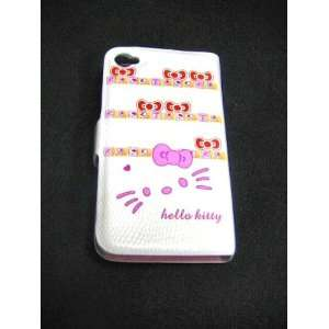 Hello Kitty Flip Open Leather Case Cover for Iphone 4 4s