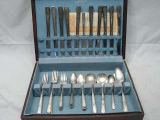 SILVERPLATE FLATWARE LADY DRAKE ONEIDA WM A ROGERS 45 PC SILVER PLATE