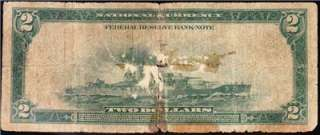 BARGAIN 1918 $2 New York BATTLESHIP Note Low Grade