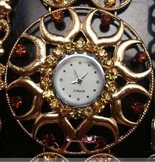 Lots Fashion 6Pcs Mixed Styles Vintage Crystal Rhinestone Watch