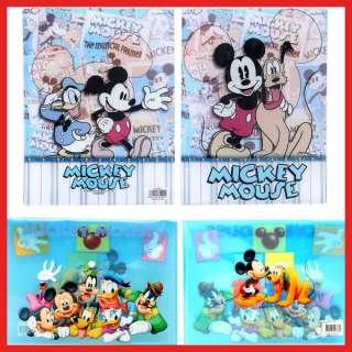 Mickey Mouse School File Jacket /Clear Folder Set