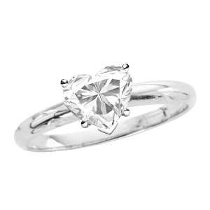 Solitaire Engagement Ring (White Gold) (Size 7.5) Katarina Jewelry