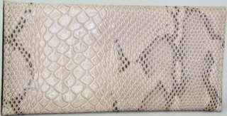Beige Black Patent Leather LK Crocodile Wallet Clutch