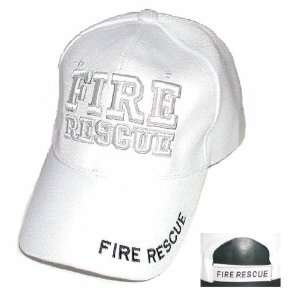 Baseball Cap / Hat ~ Fire Rescue ~ Fighter Vented   White