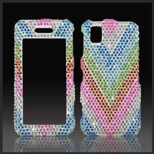 Rainbow V Cristalina crystal bling case cover for