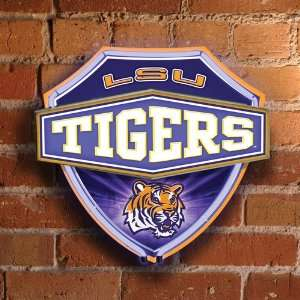 NCAA LSU Tigers Official Lighted Neon Shield Wall/Window