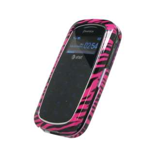 for Pantech Impact Case Cover Pink Zebra+Charger+Usb 654367622797