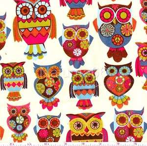 New Retro Owl Flannel Fabric by Alice Kennedy for Timeless Treasures