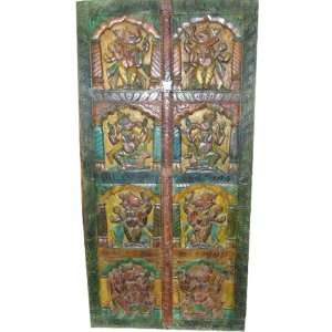 Home Decorating on Hand Carved Door Wood Wall Panel India Decor 72x36  Home   Kitchen