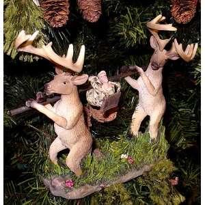 7.5 Deer & Hunter No Hunting Funny Table Top